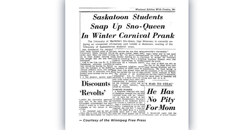 UofM Sno-Queen Kidnapped from UMSU's Winter Carnival